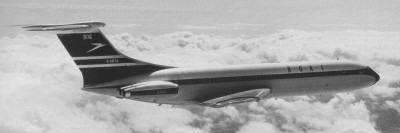 The sleek lines of the VC10